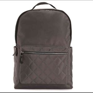 DSW Grey Quilted Backpack